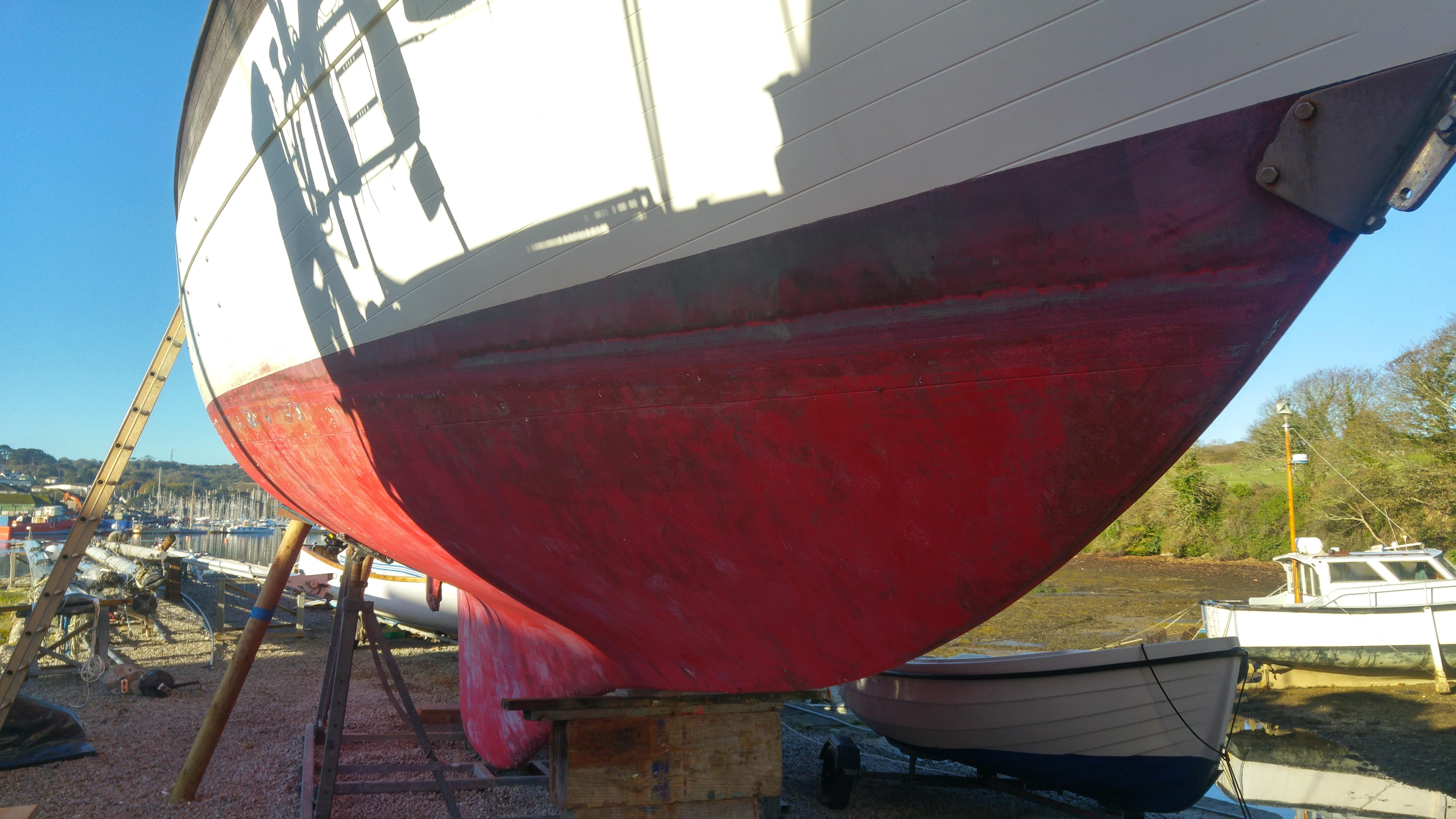 Yacht on shore