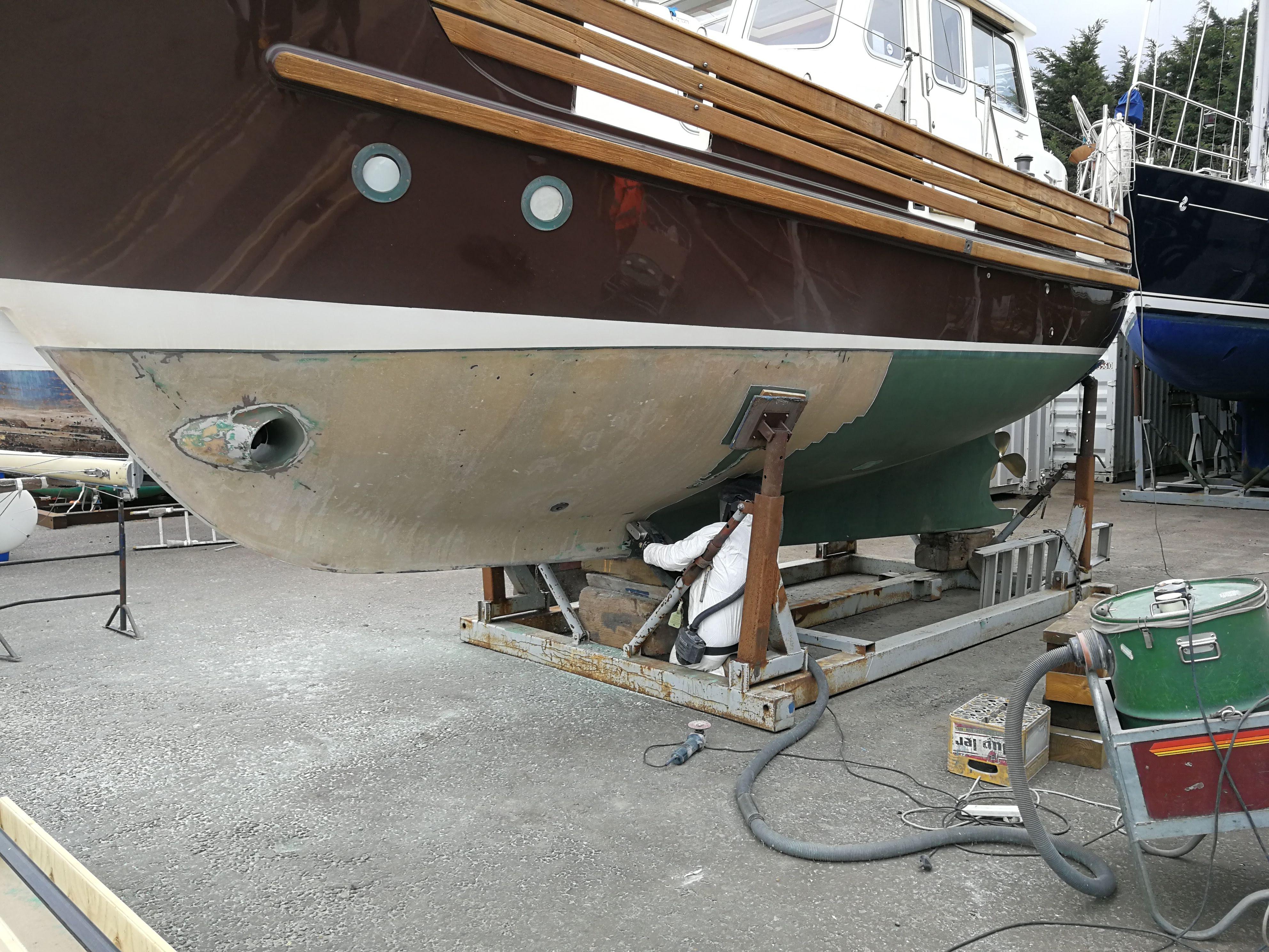 Yacht hull treatment