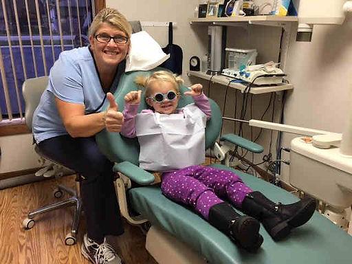 Happy girl patient smiling
