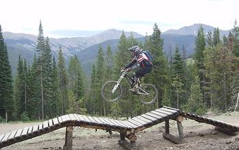 Dr. Hutton mountain biking