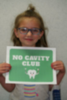 No cavity club, smiling patient