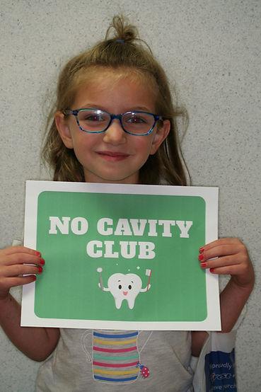 No cavity club, smiling patient