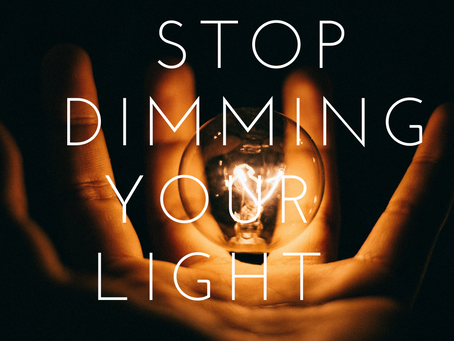 How to stop dimming your own light