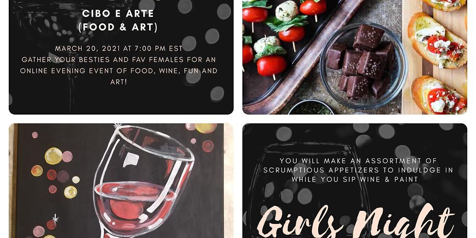 Girls Night: Cibo e Arte