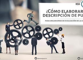 ¿Cómo elaborar una descripción de puestos? | Para organismos de evaluación de la conformidad.