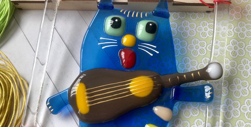 """Панно """"Кот с гитарой»"""