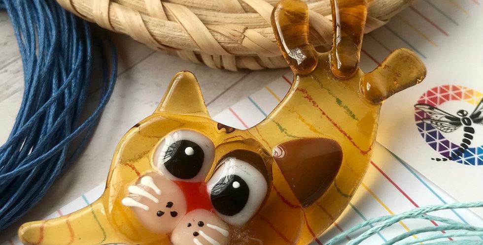 Брошь «Довольный кот»