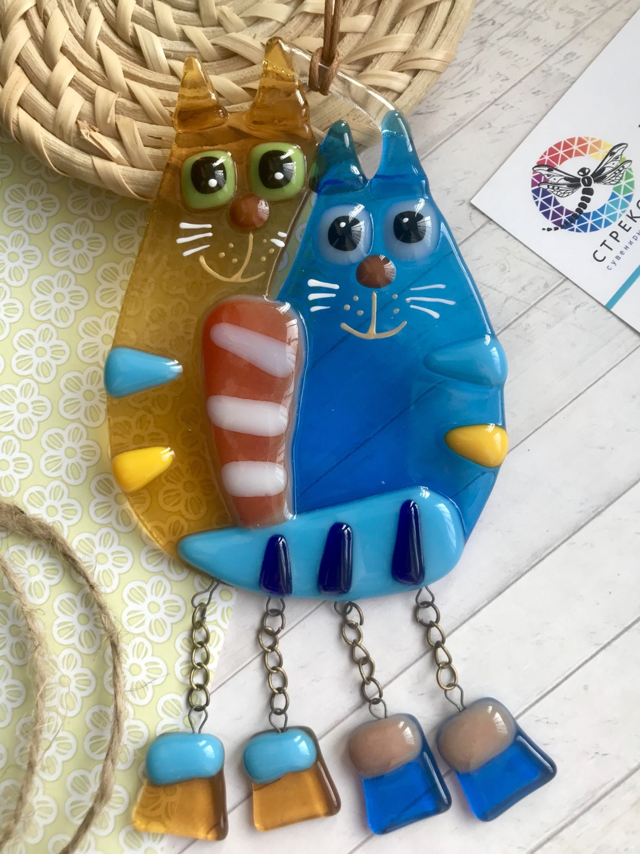 """Сувенир на подвесе """"Парочка котов»"""