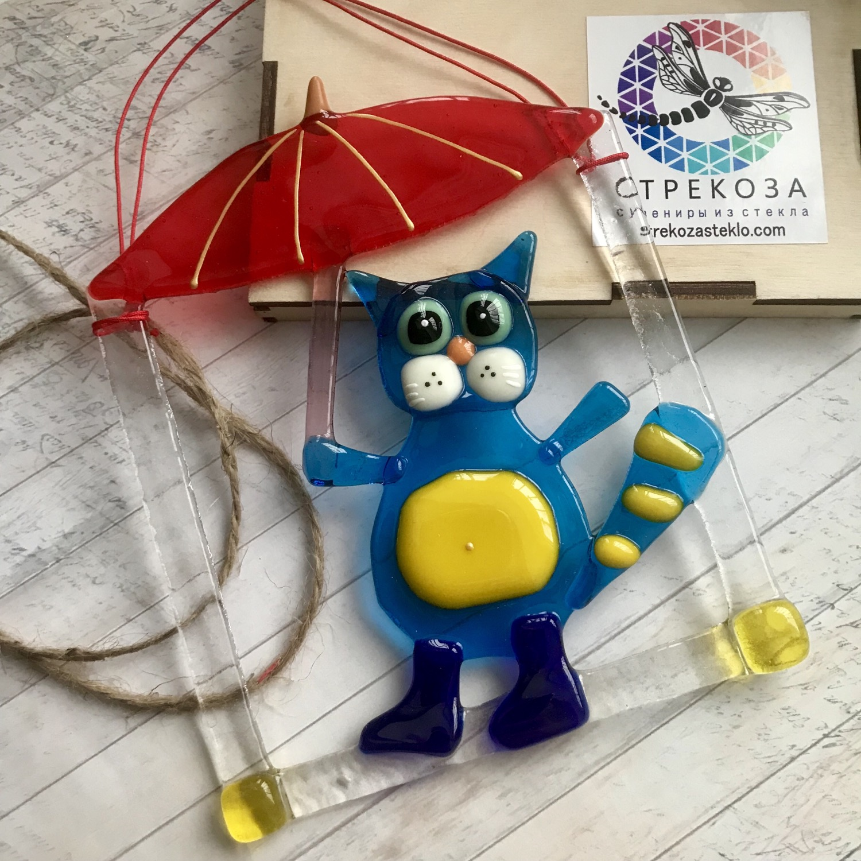 "Панно ""Кот под зонтом»"