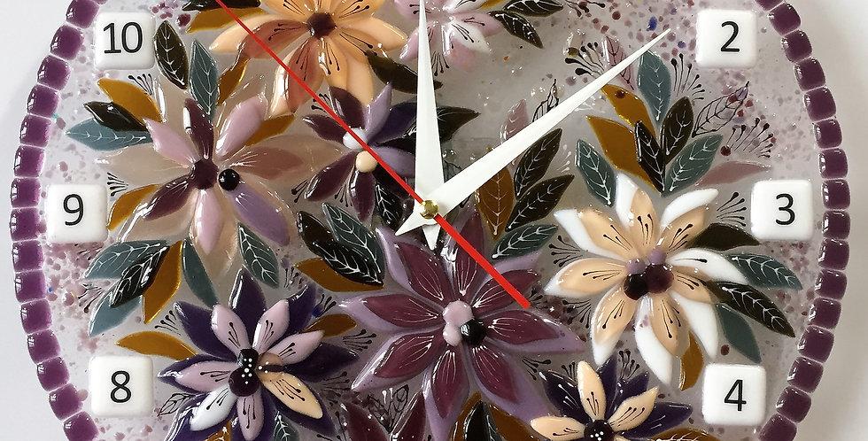 """Настенные часы """"Сиреневые цветы"""""""
