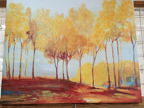 Oxide Tree Line Painting