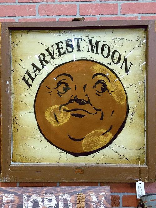 Harvest Moon Painted Window