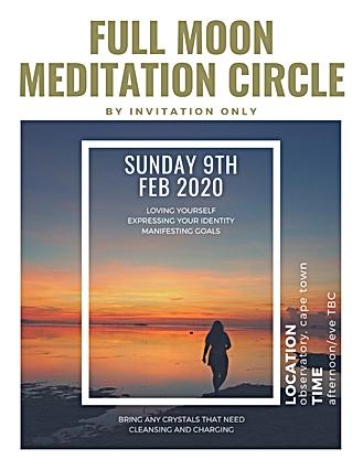 meditation circle poster