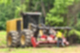 Clearing large acreage fast with our dedicated foresty mulching equipment for large acreage land clearing