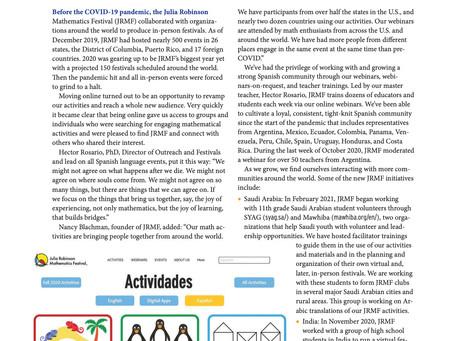 Despite Pandemic JRMF Expands Around the World - MAA Focus