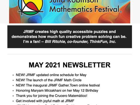 JRMF MAY 2021 Newsletter!
