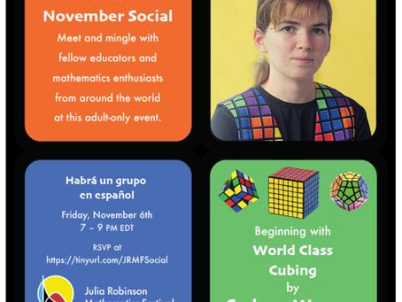SAVE THE DATE!! JRMF Social Event on November 6, 2020