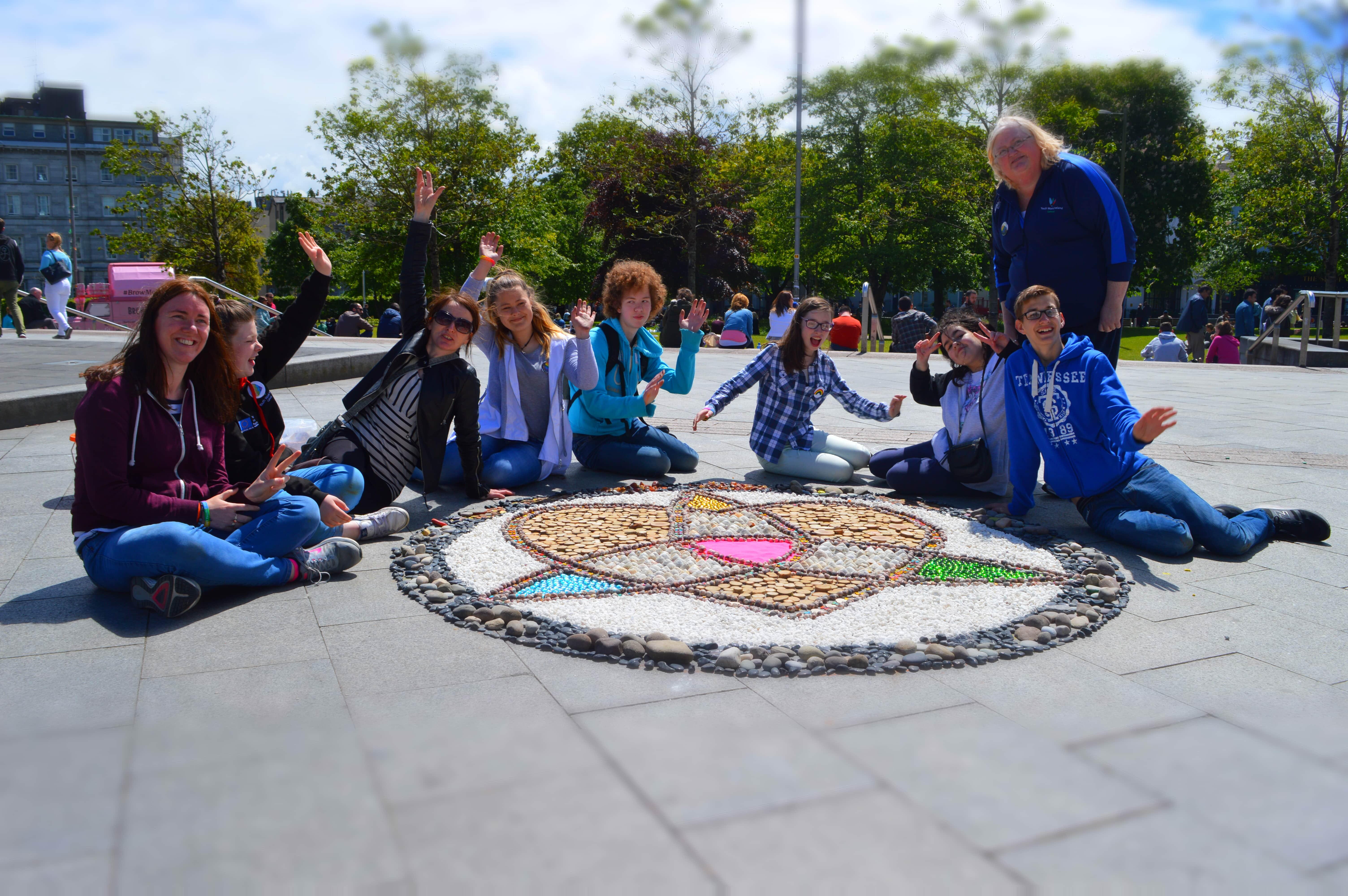 Mandala with Youth Work Ireland
