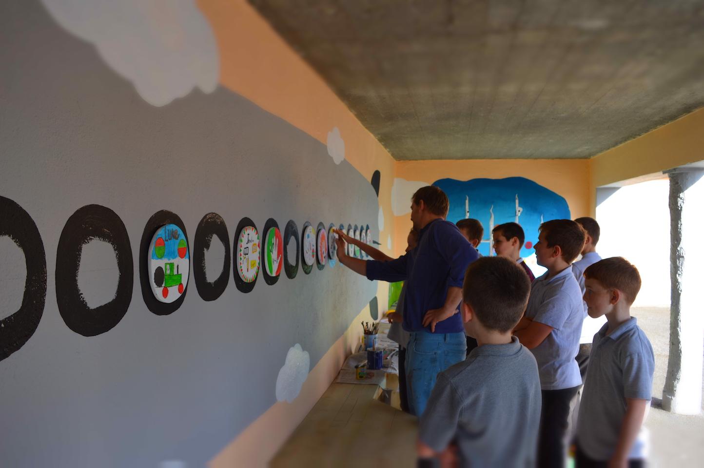 Creating School Mural