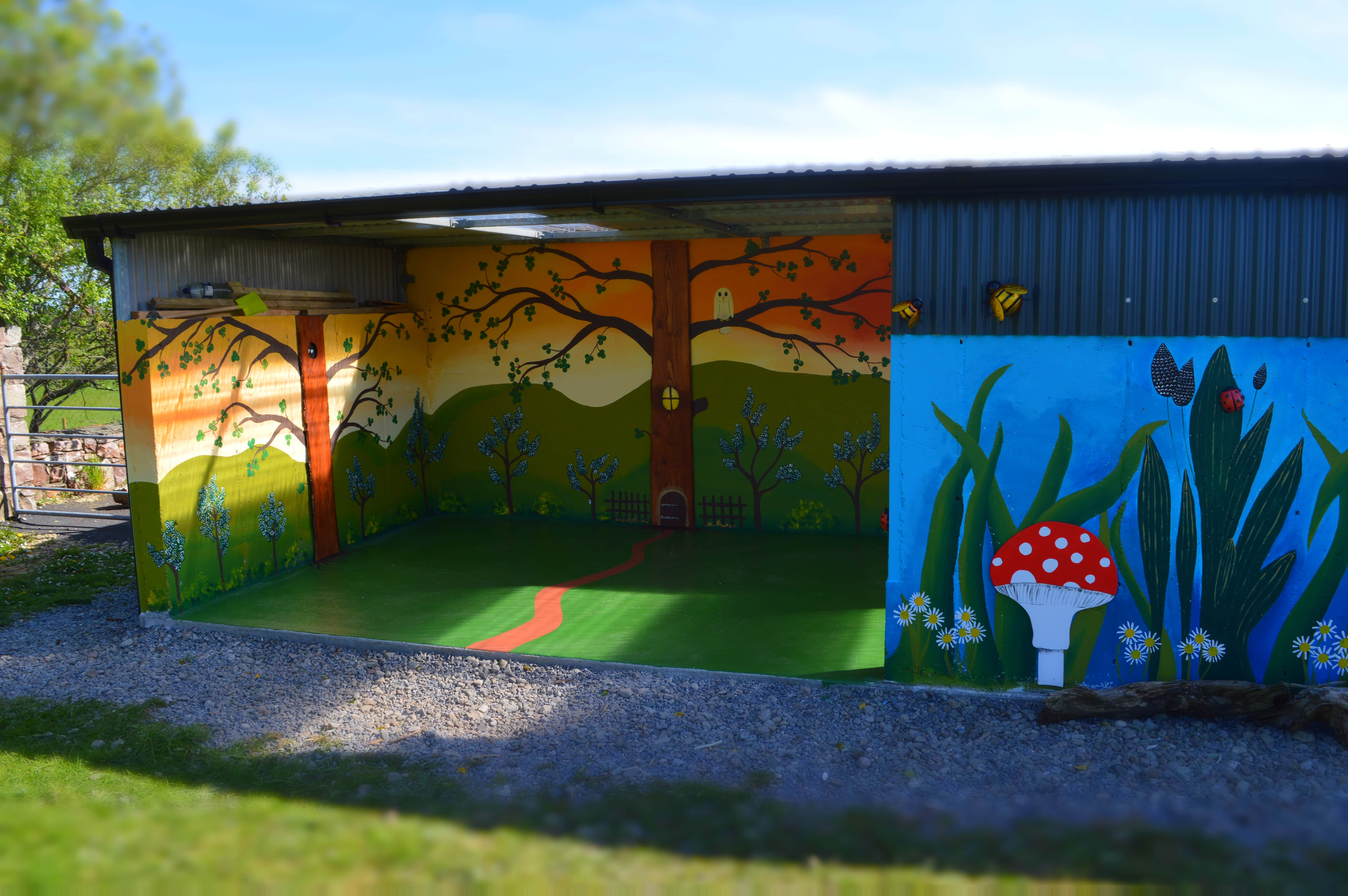 Faeries Mural at Play-school Mayo