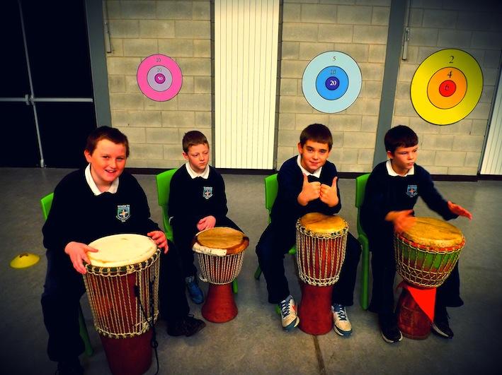 Drumming at National School