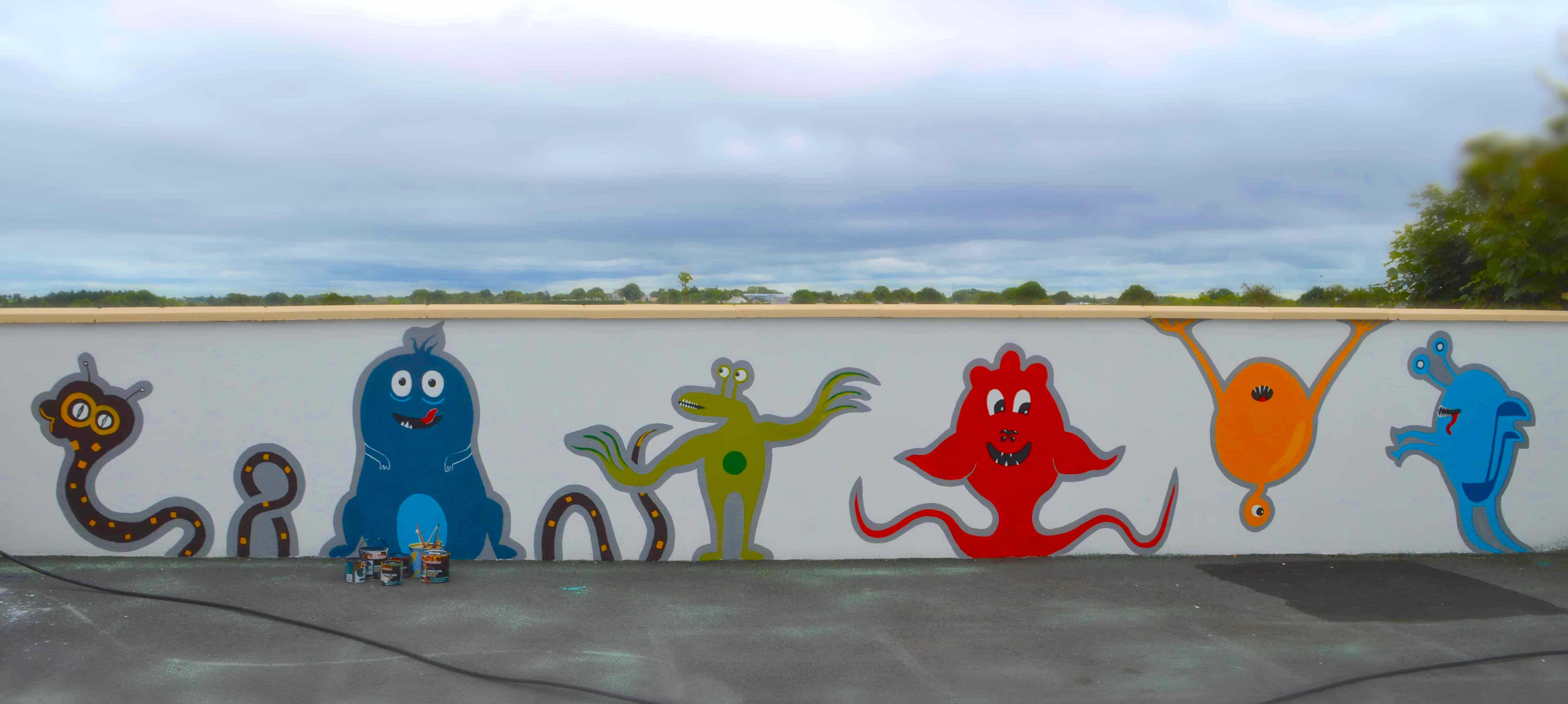 Artistic Mural at Play-school Mayo