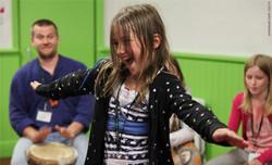 Drumming at GIC 2104