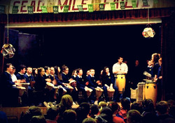 Drumming at National School
