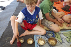 Children with Singing Bowls