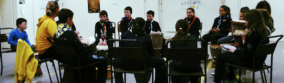 Drumming with Scouts