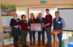 School presenting Ethics of Climate Change Project to the Minister of Climate Change