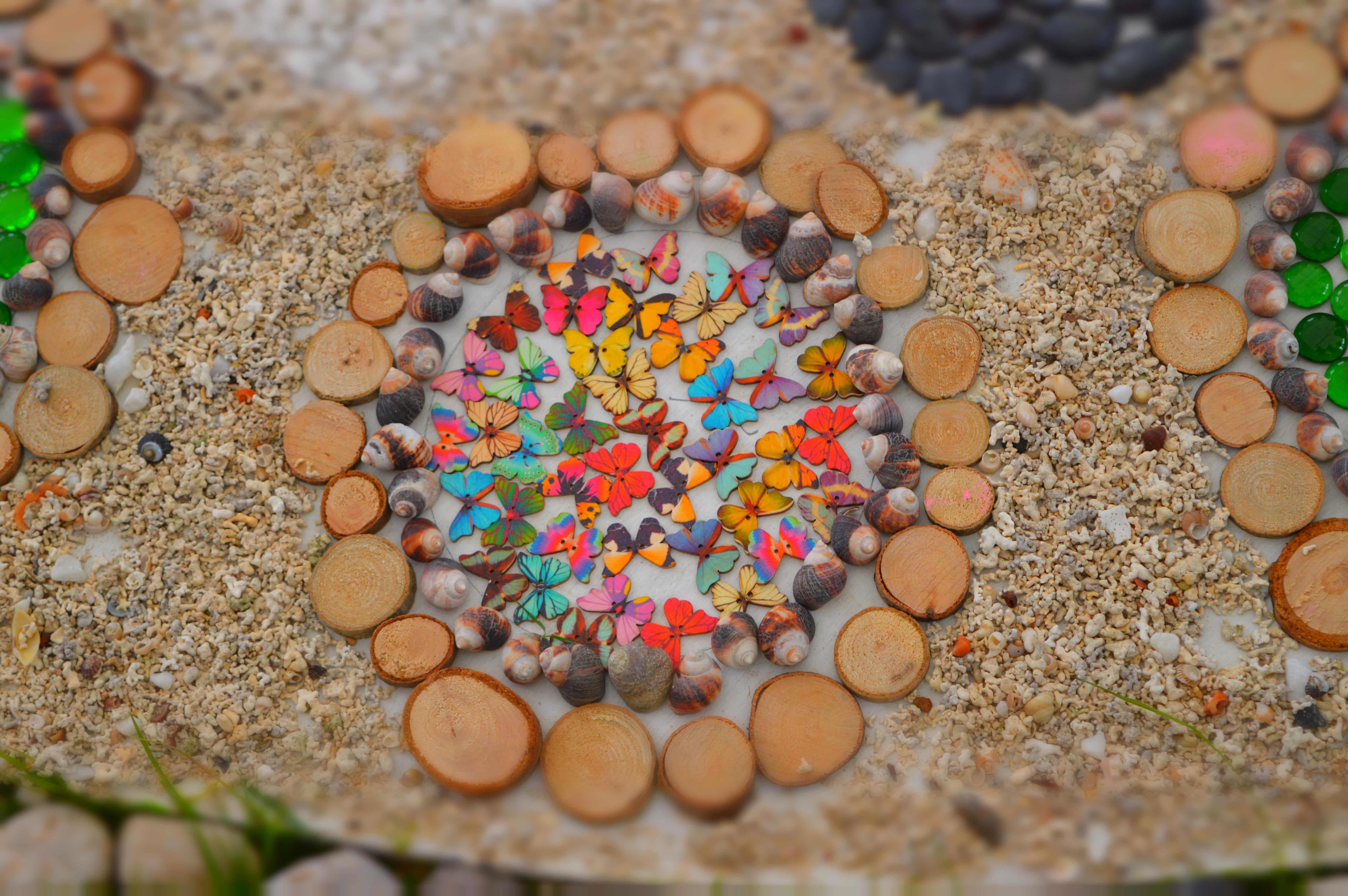 Mandala art with children