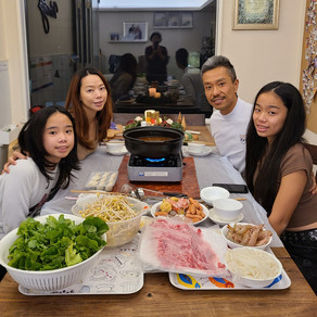 Hotpot dinner at home