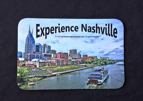 """Experience Nashville"" Vinyl Car Magnet #2 - 4 x 6 inches"