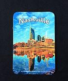 vinyl car magnet containing image of Nashville, TN, Nashville souveniers
