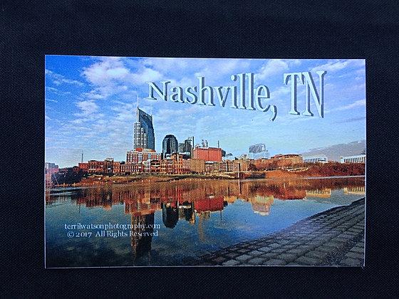 Nashville Riverfront Refrigerator Magnet Large