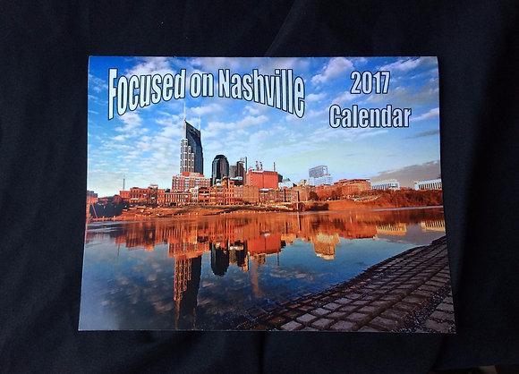 Focused on Nashville 2017 Calendar