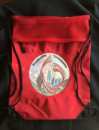 Nashville Drawstring Backpack in Chili Red
