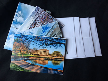 Note cards containing images of Nashville, TN and Middle Tennessee, Nashville souveniers