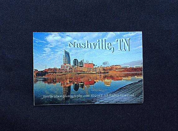 Nashville Riverfront Refrigerator Magnet Small