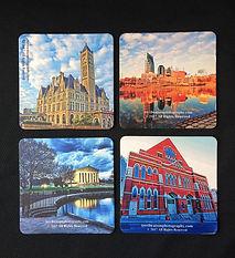 Nashville Drink Coasters, Coasters, Drink coasters, nashville souvenirs, nashville menentos