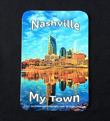 "Nashville ""My Town"" Vinyl Car Magnet #1 - 4 x 6 inches"