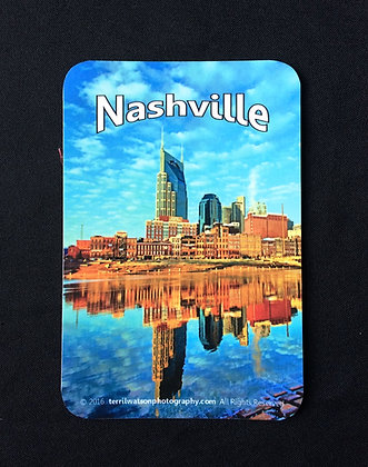 Nashville's Riverfront Vinyl Car Magnet #4 - 4 inches x 6 inches