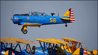 North American T-6G Texan + Boeing Stearman PT-17 // La Ferté Alais ( France) // Août 2019