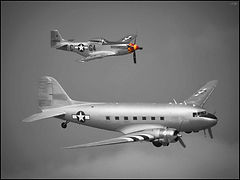Douglas DC3 + North American P-51D Mustang // Melun-Villaroche // Septembre 2019