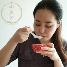 Beautiful Korean trying Bird's Nest for the first time!