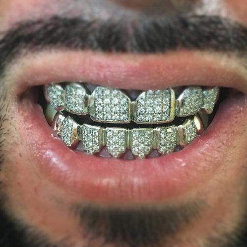 10k white gold 6top&6bottom with diamonds