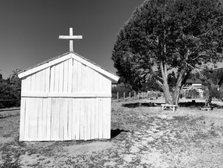 What Ghost Town is complete without a CHURCH/SCHOOL HOUSE.