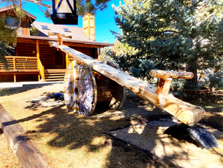 NOW AVAILABLE AT THE RANCH. ADULT TEETER TOTTER!