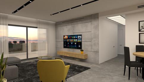 עיצוב דירת קבלן - פתח תקווה